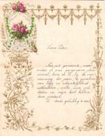 1902 LETTRE DE NOUVEL AN - NEW YEAR LETTER - NIEUWJAARSBRIEF - DOREE EN RELIEF - LOO 1902 !  SUPERBE AJOUTIS FLEURS - Announcements
