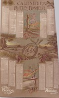 CALENDRIER ,,,,PORTE  BONHEUR  1918,,,,TBE ,,,, - Klein Formaat: 1901-20