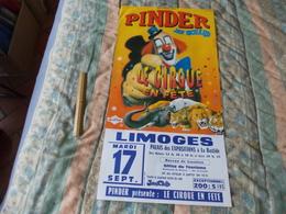 Affiche Cirque Pinder Jean Richard Le Crique En Fête à Limoges - Posters