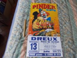 Affiche Cirque Pinder Jean Richard Le Crique En Fête à Dreux - Posters