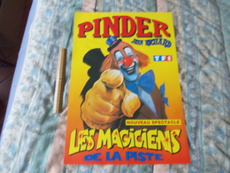 Affiche Cirque Pinder Jean Richard Les Magiciens De La Piste - Posters