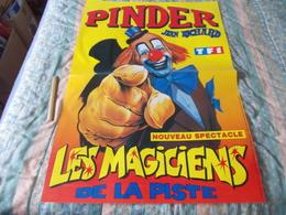 Grande Affiche Cirque Pinder Jean Richard Les Magiciens De La Piste - Posters