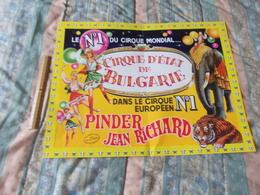 Affiche Cirque Pinder Jean Richard Cirque D'état De Bulgarie - Posters