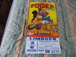 Affiche Cirque Pinder Jean Richard Le Geant Européen Supposé En 1998 à Limoges - Posters