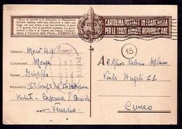 GR2459  - FRANCHIGIA R.S.I. DA VENEZIA - 4. 1944-45 Repubblica Sociale
