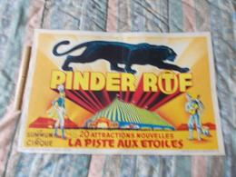 Affiche Cirque Pinder ORTF Le Summum Du Cirque Supposé En 1969 - Posters
