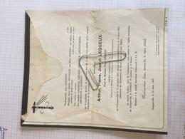 18E - Lettre Faire Part Arthur Lequeux Né Longueville Dcd Chaumont Gistoux 1967 - Obituary Notices