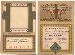 V527  - CONFEDERAZIONE NAZIONALE FASCISTA AGRICOLTORI 1930 - Documents
