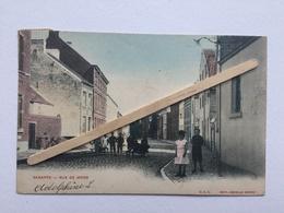 GENAPPE «RUE DE MONS»Panorama,couleur,animée (1920)Édit O.V.S.DECELLE SŒURS. - Genappe