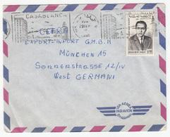 Casablanca Slogan Postmark On Air Mail Letter Cover Travelled 196? To Germany B180425 - Morocco (1956-...)