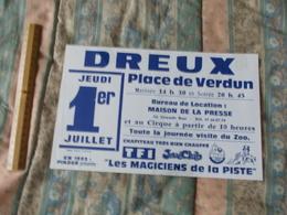 Affiche Cirque Pinder Jean Richard  Les Magiciens De La Piste à Dreux En 1993 - Posters