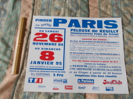 Affiche Cirque Pinder Jean Richard  à Paris Du 26 Novembre 1994 Au 8 Janvier 1995 - Posters