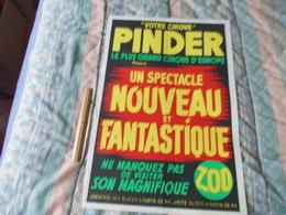 Affiche Cirque Pinder Un Spectacle Nouveau Et Fantastique - Posters