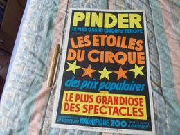 Affiche Cirque Pinder Les étoiles Du Cirque - Posters