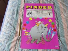 Affiche Cirque Pinder à Tours En Carton - Posters