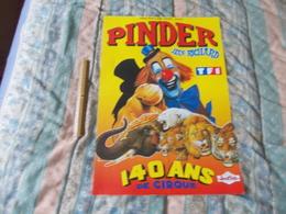 Affiche Cirque Pinder Jean Richard 140 Ans De Cirque - Posters
