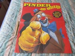 Grande Affiche Cirque Pinder Jean Richard Toute La Journée Visite Du Zoo - Posters