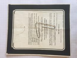 18E - Lettre Faire Part Nestor Devroye Ancien Combattant 14-18 Né Dion Le Mont Dcd Chaumont Gistoux Dcd Longueville 1951 - Obituary Notices