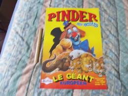 Affiche Cirque Pinder Jean Richard Le Géant Européen - Posters
