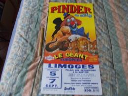 Affiche Cirque Pinder Jean Richard Le Geant Européen Supposé à Limoges - Posters