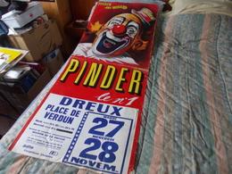 Grande Affiche Cirque Pinder Le N° 1 à Dreux - Posters
