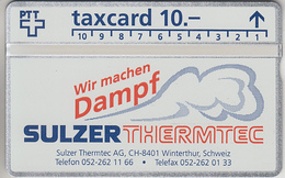 SUISSE - PHONE CARD - TAXCARD-PRIVÉE   ***   SULZER - THERMTEC  *** - Switzerland