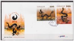 Antilles / Curacao 2012 FDC 15 CNY Year Of The Dragon - Curaçao, Antilles Neérlandaises, Aruba