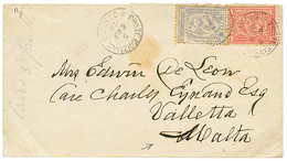 540 EGYPT To MALTA : 1876 20p + 1P Canc. CAIRO On Cover To VALETTA (MALTA). Arrival Cds On Reverse. Vf. - Egypt