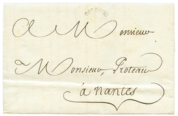 """636 HAITI : 1788 Small Cachet COLONIES On Entire Letter """"AUX CAYES"""" To FRANCE. Superb. - Haiti"""