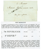 637 HAITI - French REVOLUTION : 1794 P * REPUBLICAIN On Entire Letter From LEOGANE To PORT AU PRINCE. Under The Administ - Haiti