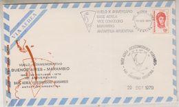Argentina 1979 Vuelo Commemorativo Buenos Aires - Base Marambio 29 Oct 1979 Cover (38499) - Poolvluchten
