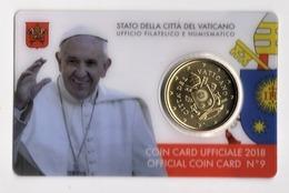 ** 50 CENT VATICAN 2018 SOUS COFFRET EURO CARD N° 9 -  PIECE NEUVE ** - Vatican