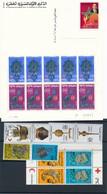 BS-434: MAROC: Lot** Avec Têtes- Bêches**avec 507A (feuillet)-744A(2)-762A-804A-848A +entier CP - Marokko (1956-...)