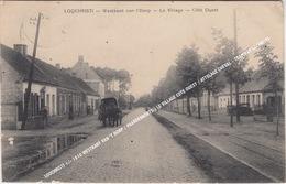 LOOCHRISTI +/- 1910 WESTKANT VAN 'T DORP / PAARDENKOETS / LE VILLAGE COTE OUEST / ATTELAGE CHEVAL - TRAMWAY LOCHRISTI - Lochristi