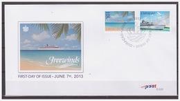 Antilles / Curacao 2013 FDC 33 Cruiseschepen Freewinds Cruiseships - Niederländische Antillen, Curaçao, Aruba