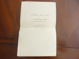 MANUSCRIT 9 PAGES ALLOCUTION FAITE AU MARIAGE  L'ABBE M. BON LE 21 MARS 1912 - Autógrafos