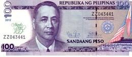 Philippines P.213  100 Piso 2012 Unc - Filippine