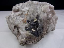 CASSITERITE DANS QUARTZ BLANC 11 X 7 Cm MONTEBRAS - Minerals