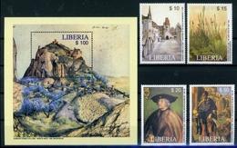 Liberia MiNr. 4815-18 + Bl 482 Postfrisch/ MNH Kunst (Ku758 - Liberia
