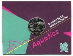 RC 8616 GB 50 PENCE LONDON 2012 SPORTS COLLECTIONS AQUATICS - 1971-… : Monnaies Décimales