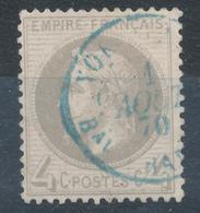 N°27 CACHET ETRANGER A DATE BLEU. - 1863-1870 Napoleone III Con Gli Allori