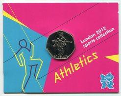 RC 8618 GB 50 PENCE LONDON 2012 SPORTS COLLECTIONS ATHLETICS - 1971-… : Monnaies Décimales