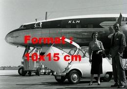 Reproduction D'une Photographie D'une Isetta à Côté D'un Airbus KLM - Reproductions
