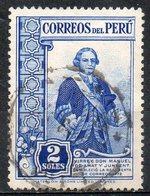 PERU' 1936 - Manuel De Amat Y Junyent. 2S.  Usato - Scott. 370-A150 - Peru