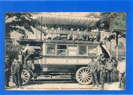 75 PARIS - Nouveaux Autobus : Montmartre- St Germain Des Prés - Transport Urbain En Surface