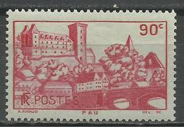 FRANCE , FRENCH , 90 Cts , Château De Pau , 1939 , N° YT  449 ( * ) - Nuovi