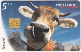 SWITZERLAND B-894 Chip Swisscom - Animal, Cow - Used - Switzerland