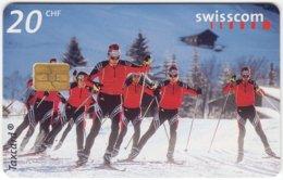 SWITZERLAND B-906 Chip Swisscom - Sport, Cross-country Skiing - Used - Switzerland