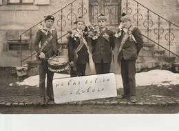 UEBERSTRASS -  Conscrits Classe 1910  ( Carte-photo ) Très Rare  ( 1/2 ) - France