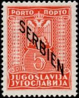 ~~~ German Occupation Of Serbia 1941 - Postage Due - Mi. 6 ** MNH OG ~~~ - Occupation 1938-45